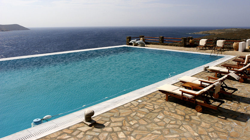 Seafront luxury villa next to a secluded beach in Mykonos