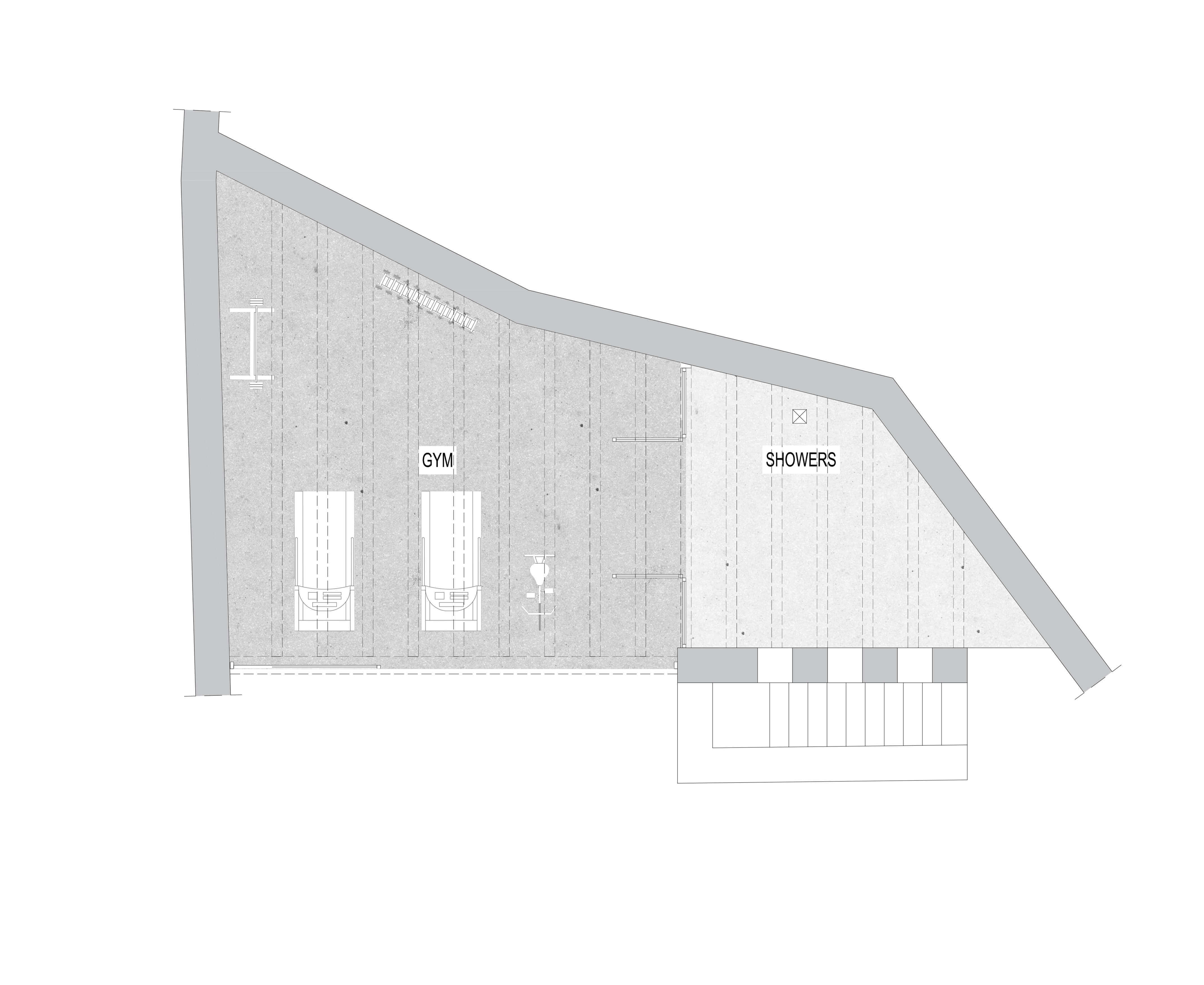 Plan of the Guest house and the Gym