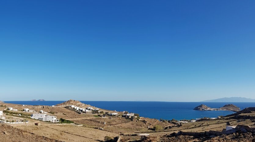 sea view land for sale in Mykonos