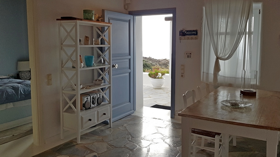 Cozy apartment with sea and sunset views in Houlakia-DR112102