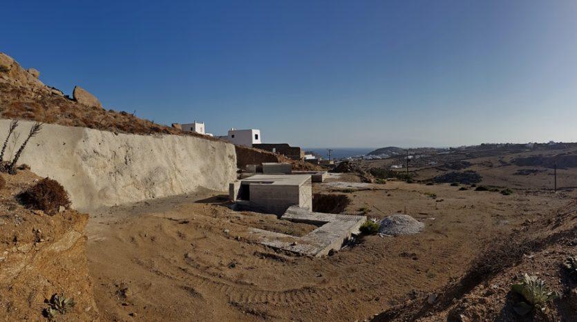 property under construction in Mykonos