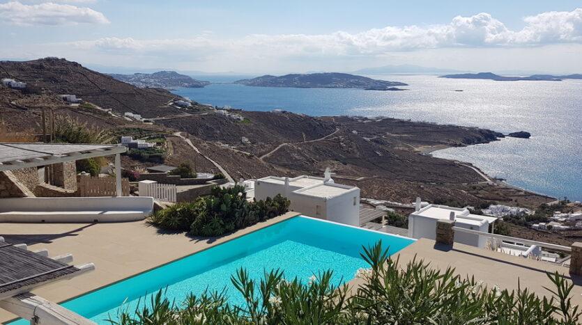 Infinity view villa for sale in Mykonos