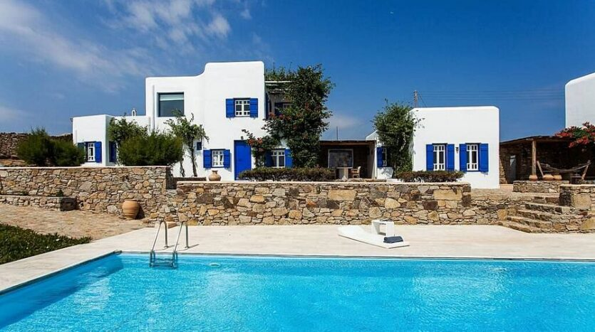 villa with panoramic sea and sunset views